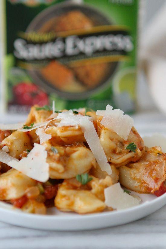 Italian Herb Baked Cheesy Tortellini | Recipe