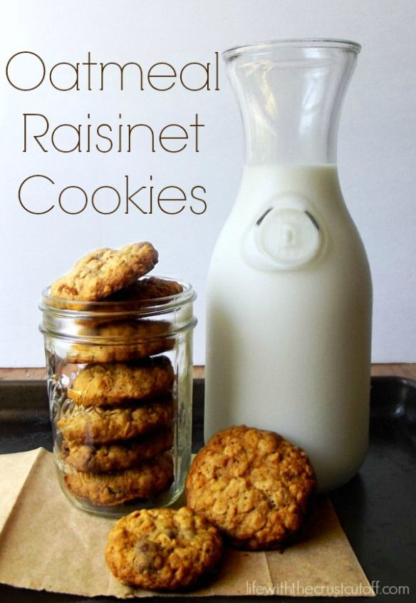 Oatmeal Raisinet Cookies...today's day off baking fun!