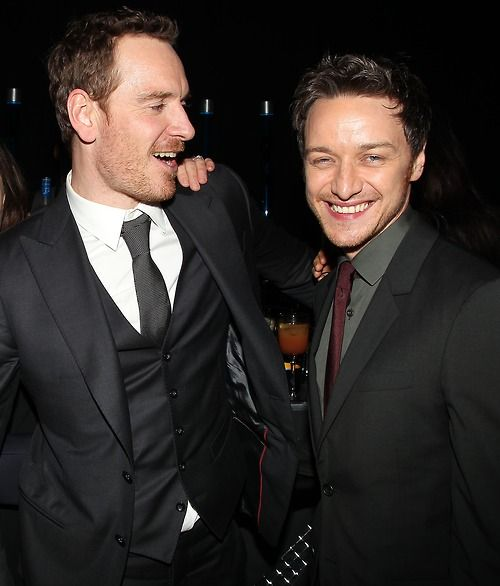 Michael Fassbender and James McAvoyJames Mcavoy Michael Fassbender