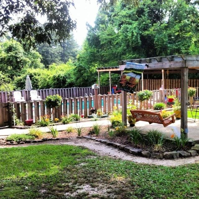 Sweet backyard oasis  Outdoors  Pinterest