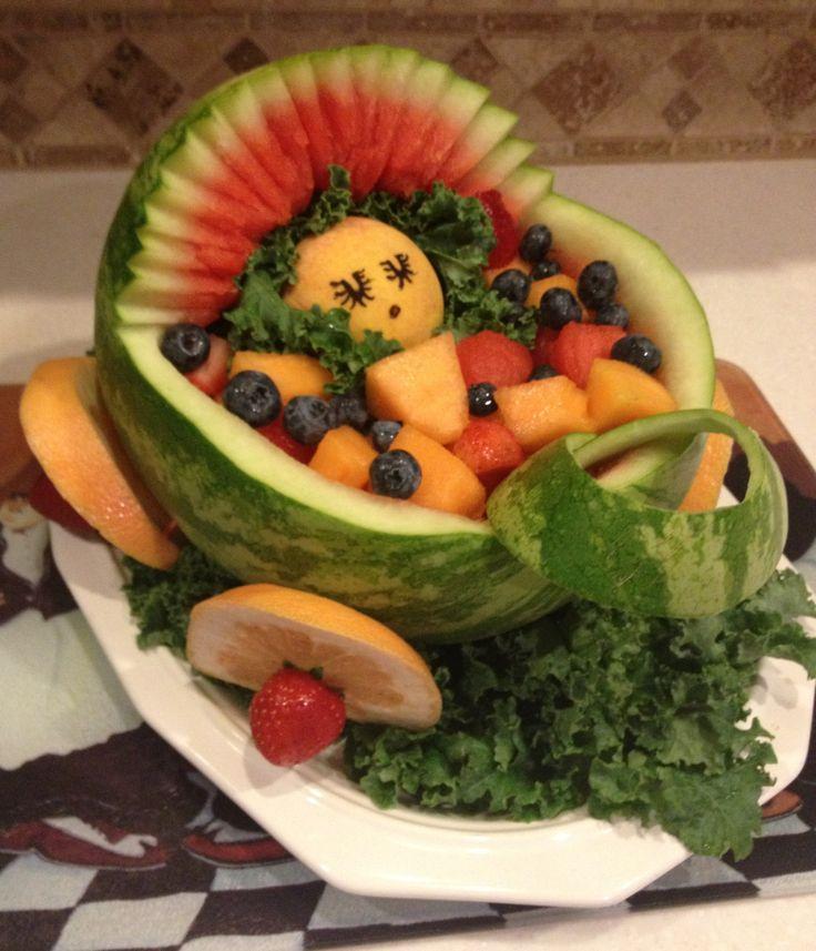baby shower fruit basket so sweet yummy treats pinterest