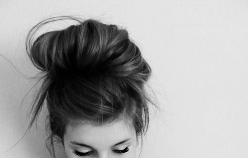 Messy pretty bun