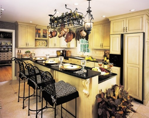 Black And Yellow Kitchen Maybe Glazed Cabinets Pinterest
