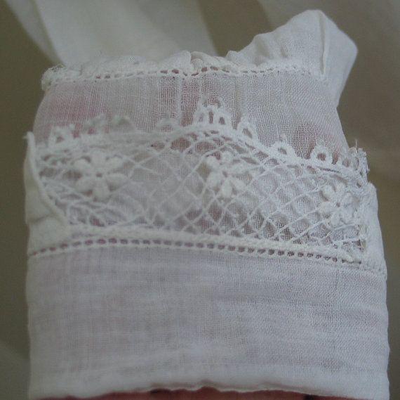 White Sailor Blouse With Lace Trim 41