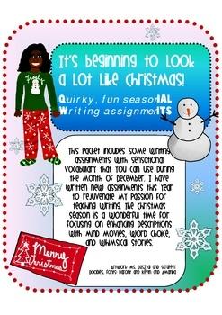 Christmas Writing Prompts Worksheet