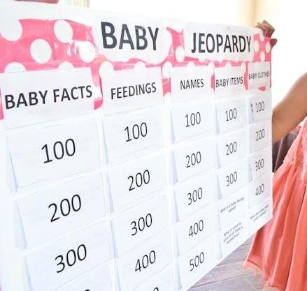 baby jeopardy board