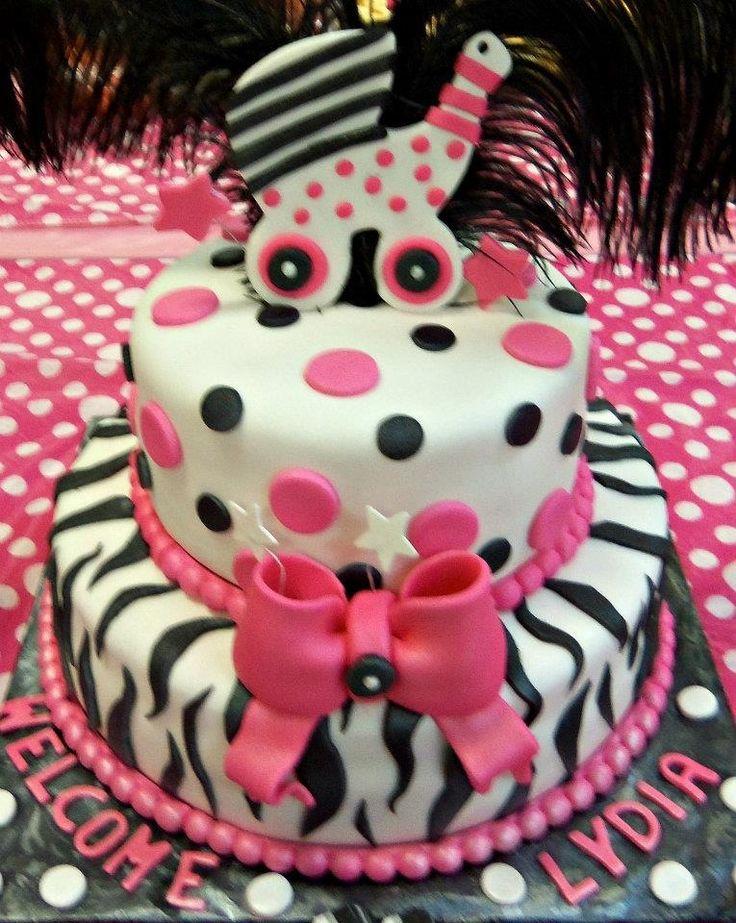 zebra baby shower cake babyshower pinterest