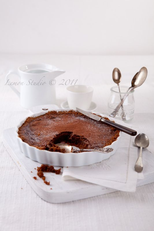 double chocolate tart with home made pastry. Serve with some double ...
