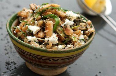Ottolenghi's Fried Beans with Sorrel, Feta & Sumac — Punchfork