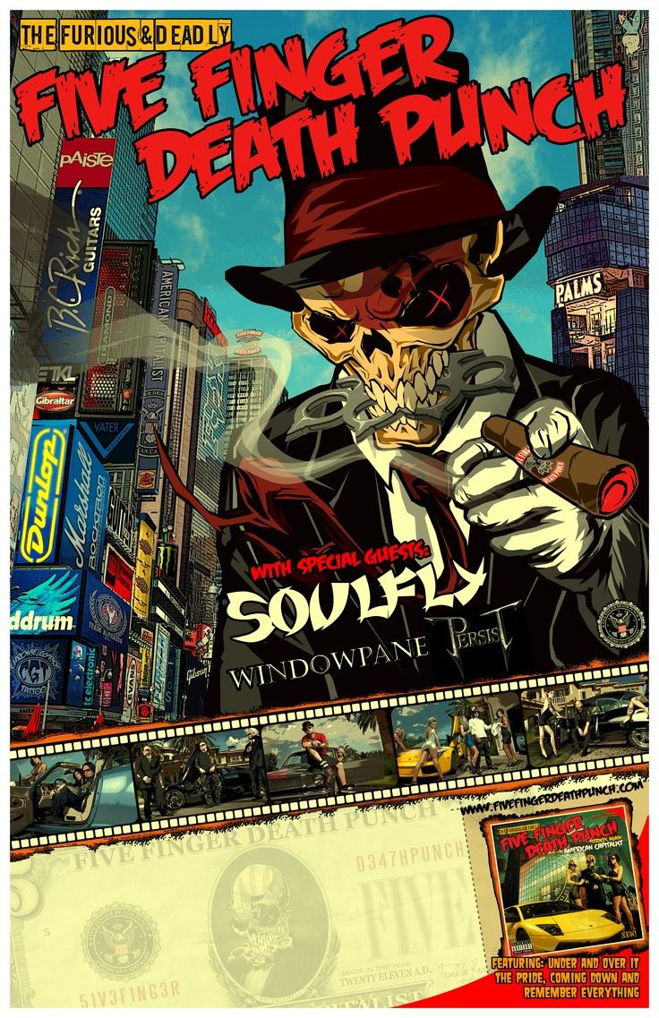 FIVE FINGER DEATH PUNCH, VOLBEAT, HELLYEAH Announce Fall Tour Dates ...