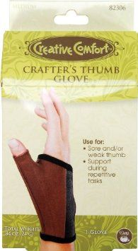 For support during repetitive tasks such as crocheting ~ Amazon.com: Dritz Crafters Thumb Glove - Medium: Arts, Crafts & Sewing