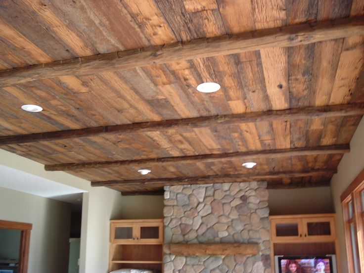 Reclaimed wood ceiling reclaimed wood ceiling pinterest for Home rustic ceiling ideas