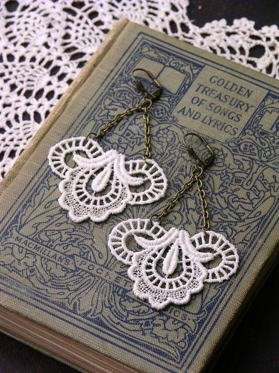 lace earrings!