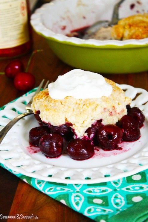 Cherry Cobbler with Bourbon Whipped Cream | Recipe
