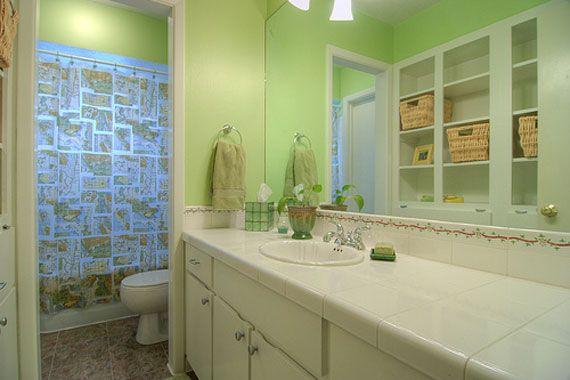 Soft green bathroom wall painting home ideas pinterest