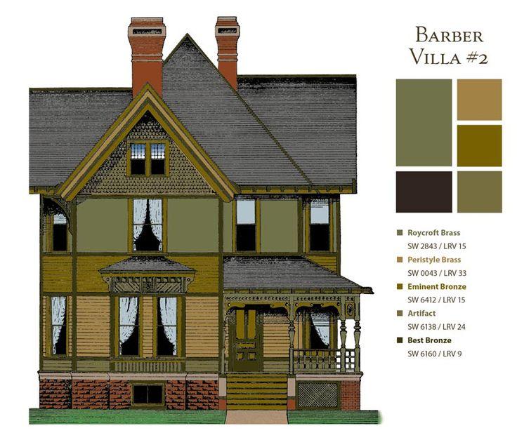 Historic Paint Colors Barber Villa2 Our Old House Pinterest