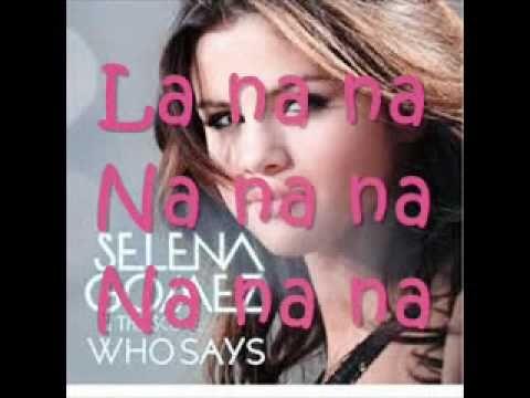 Who says lyrics selena gomez music therapy pinterest