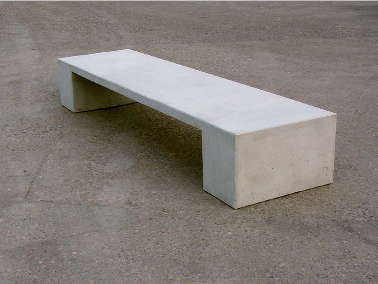 Contemporary Public Bench In Concret Concrete Pinterest