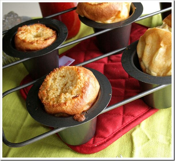 Buttery Coconut Popovers with Fresh Strawberry Syrup. (can substitute ...