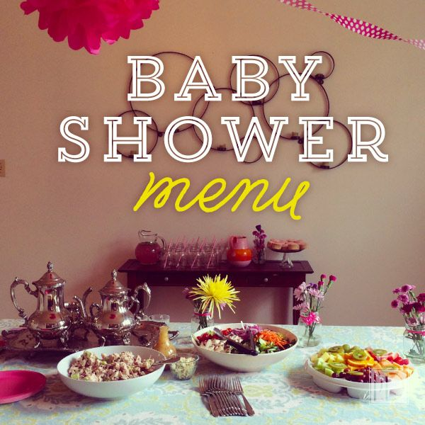 celebrate a new addition with this elegant baby shower menu and plan