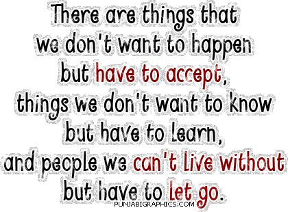 let go...just let go