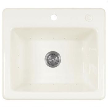 Jetted Laundry Sink : ... Industries 2522SKBI Single Hole Acrylic Jetted Laundry Sink, Biscuit