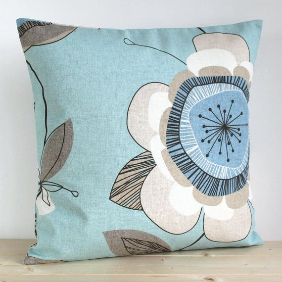 duck egg blue cushion cover 16 inch pillow sham duck egg. Black Bedroom Furniture Sets. Home Design Ideas