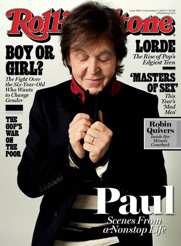 Paul McCartney on the cover of Rolling Stone. #paulmccartney #rollingstone