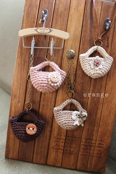 crochet mini bag 1/6 scale handmade Pinterest