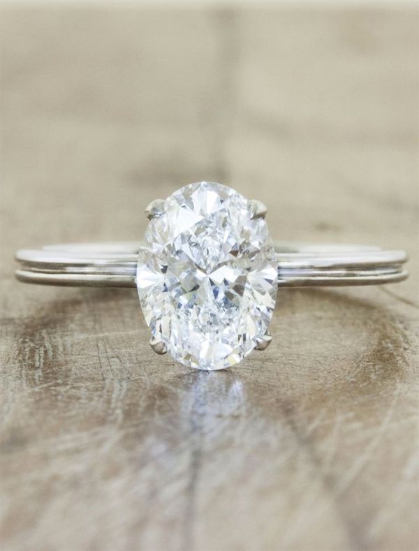 simple oval engagement ring by caiteyb looking toward