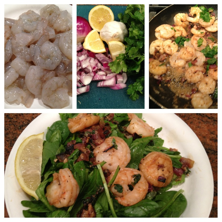 ... shrimp sautéed with onions, garlic, lemon juice and cilantro. Yum Yum