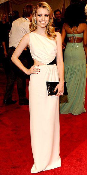 Emma Roberts. What a beautiful dress.
