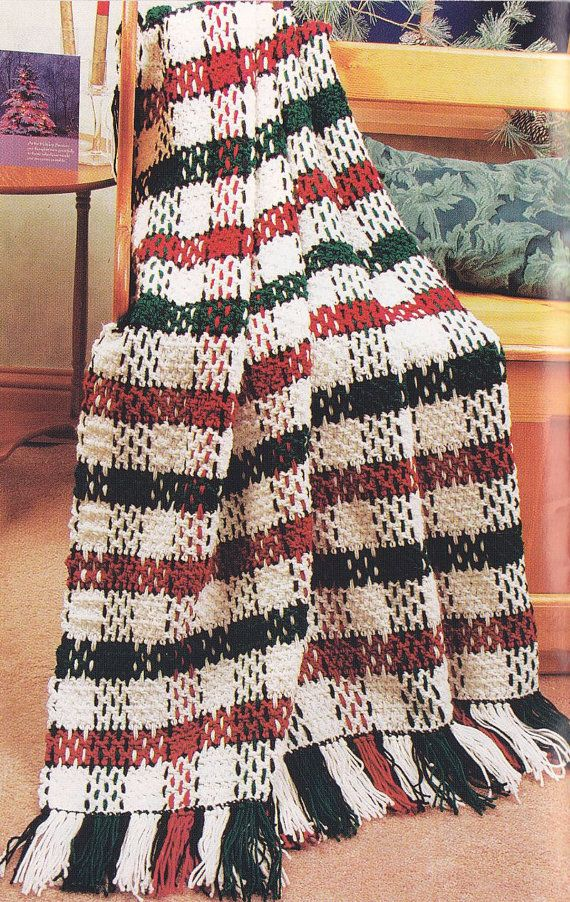 Christmas Afghan Crochet Patterns - Quilt or Plaid ...
