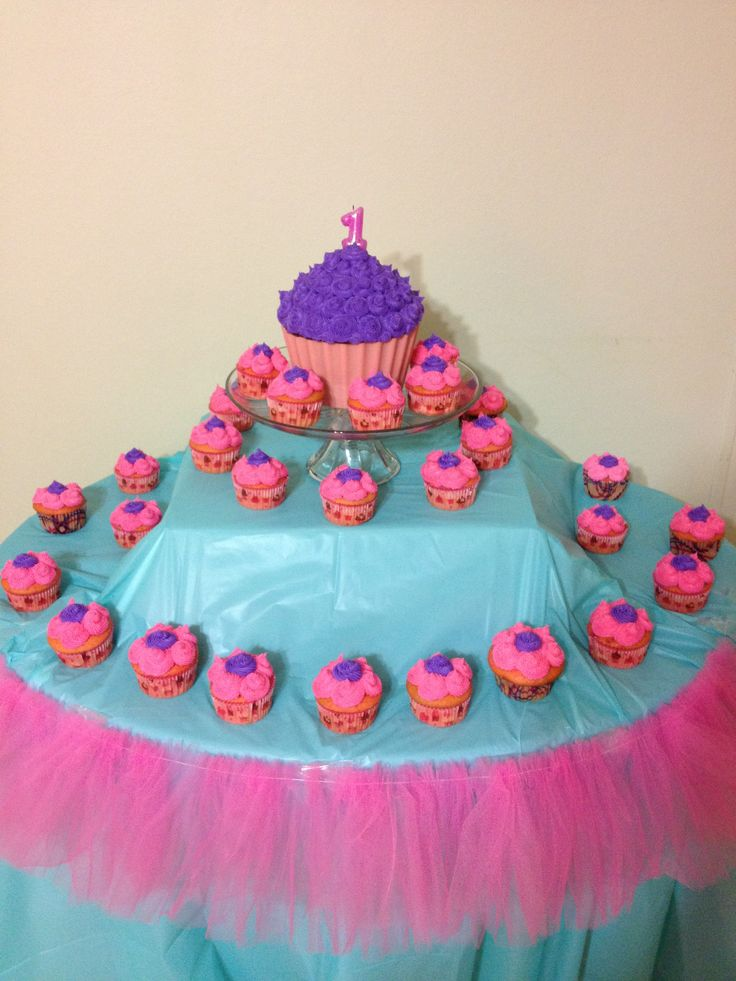 Cupcake Themes Ideas : Giant Cupcake display for cupcake theme First Birthday ...