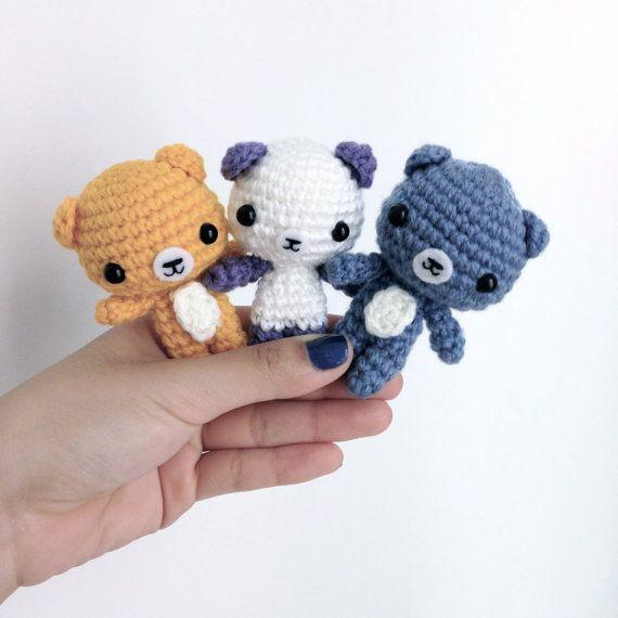 Crochet Amigurumi Teddy Bear Keychain baby shower by ...