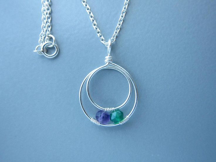 s necklace with 2 birthstone