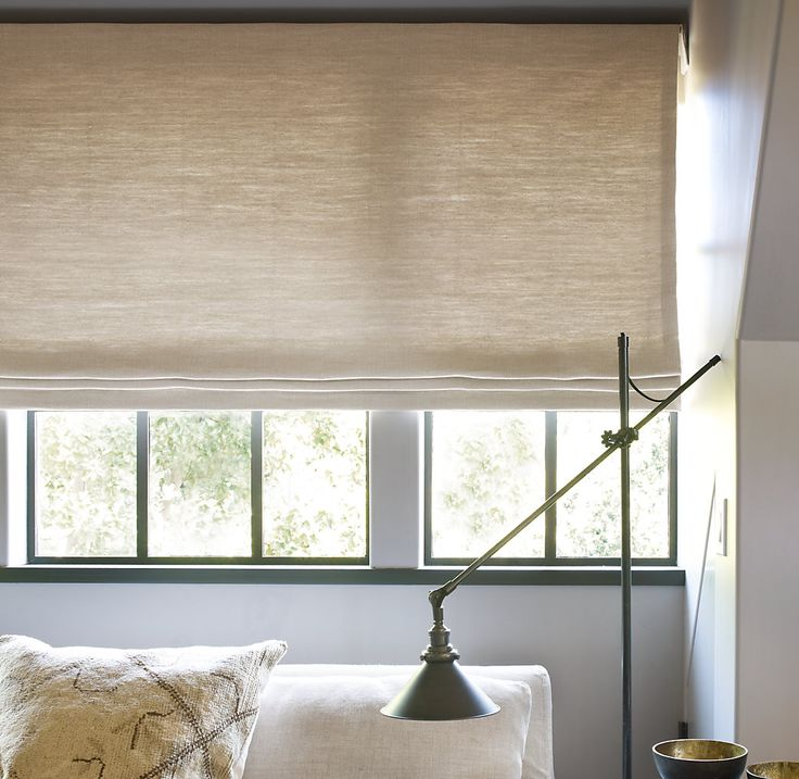 Flat roman shade ideas windows pinterest for Roman shades for wide windows