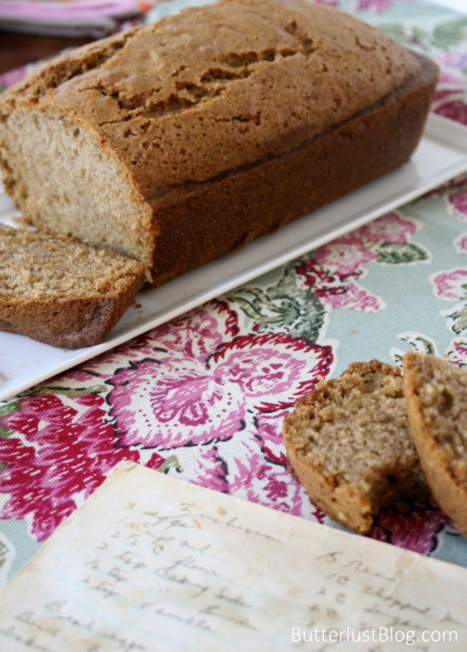 Grandma's Zucchini Bread   Butterlust Blog