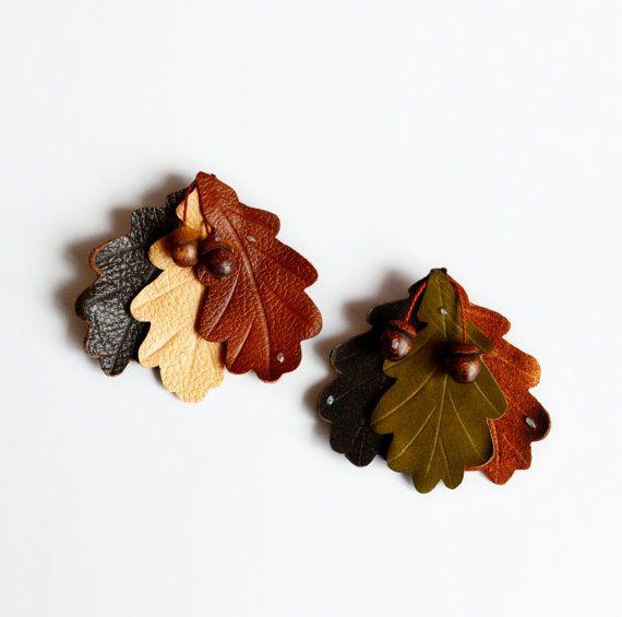 Дубовые листья своими руками 53