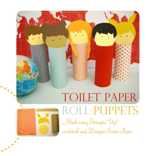 Toilet paper roll puppets fun with kids pinterest for Toilet roll puppets