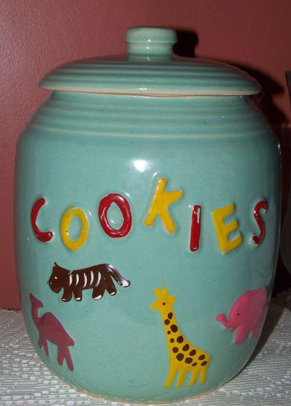 Vintage Animal Cracker Cookie Jar Excellent Used by SandysEyeCandy, $ ...