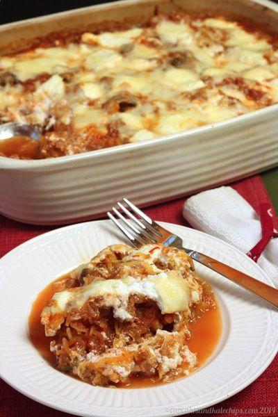 Turkey Sausage & Mushroom Spaghetti Squash Casserole | Recipe