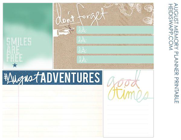 Heidi Swapp (new memory planner printable!)