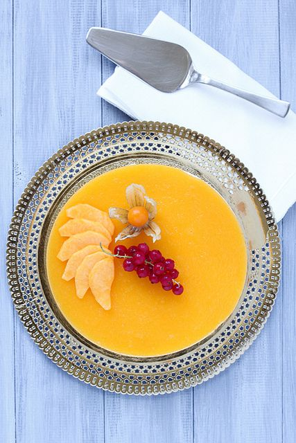 Peach Chamomille Mousse Cakes Recipe — Dishmaps