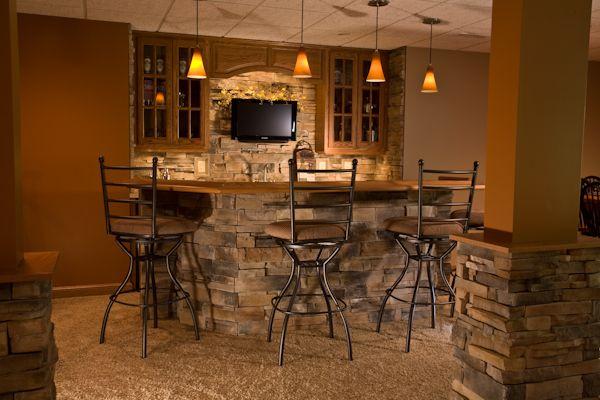 Basement Stone Bar Brick Stone Pinterest