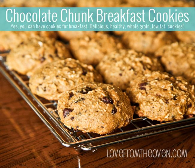Healthy Chocolate Chunk Cookies for breakfast - made with bananas ...