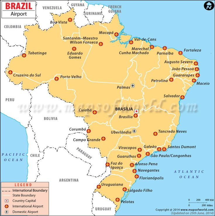 airports in brazil maps pinterest