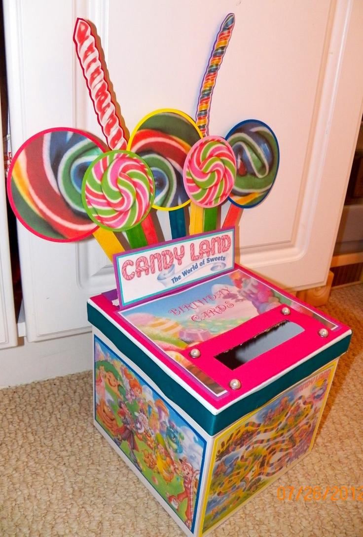 Birthday Cards Box ~ Birthday card box candyland pinterest