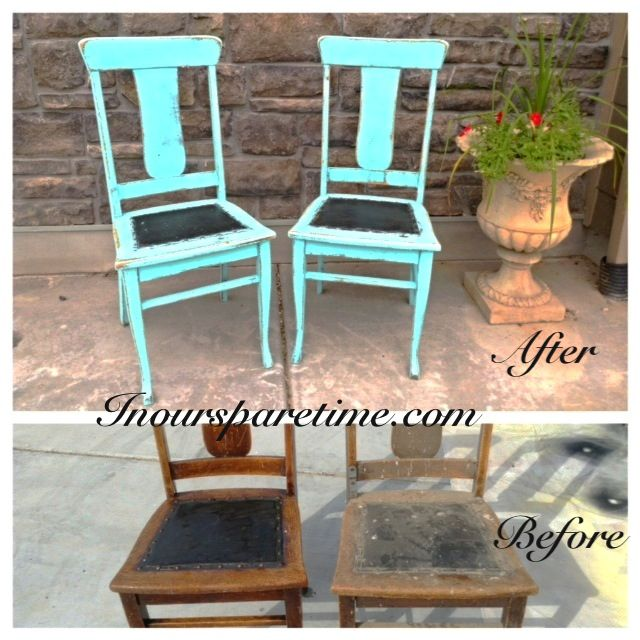 Antique chairs before after repurposed furniture for Repurposed furniture before and after