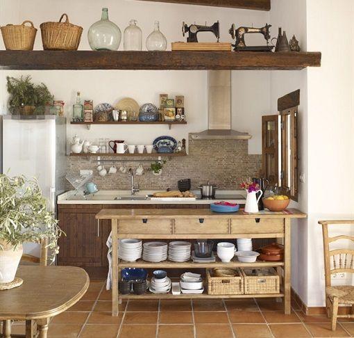 Cocina rustica cozy home pinterest - Mesas de cocina rusticas ...